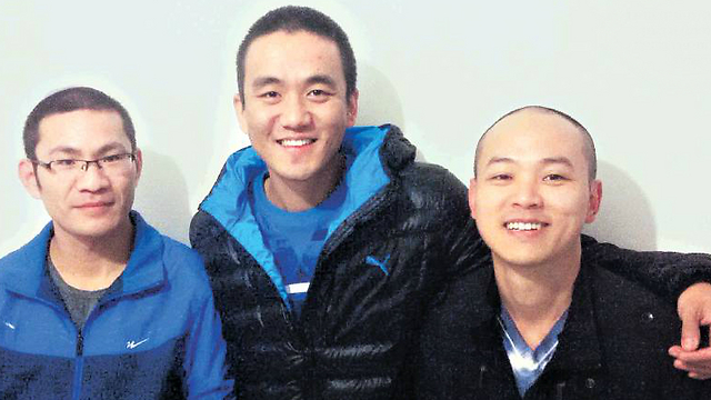 From left to right: Gideon, Yonatan and Moshe (Photo: Eran Barzilai) (Photo: Eran Barzilai)