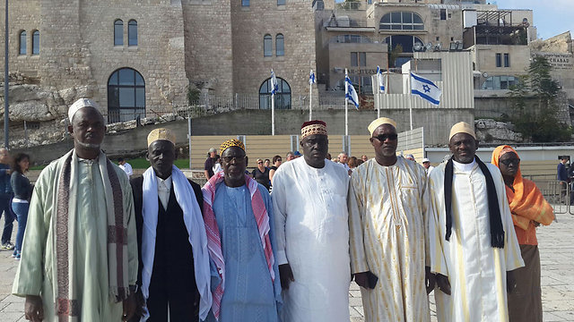 The Senegalese Imams pose in Jerualem. (Photo: Yoav Katz) (Photo: Yoav Katz)