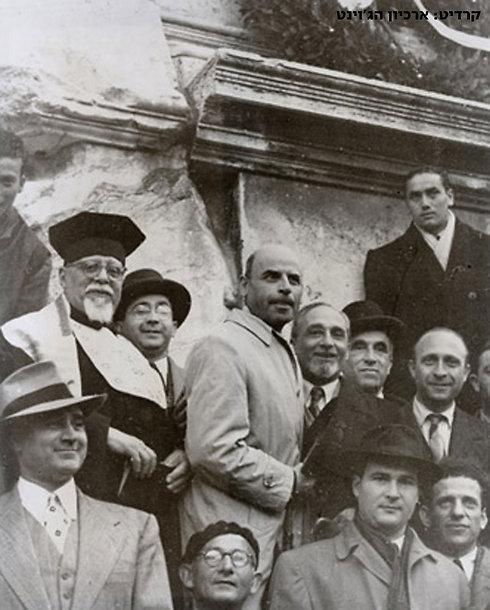 הקהילה היהודית ברומא חוגגת בעקבות החלטת החלוקה (צילום: ארכיון הג'וינט) (צילום: ארכיון הג'וינט)