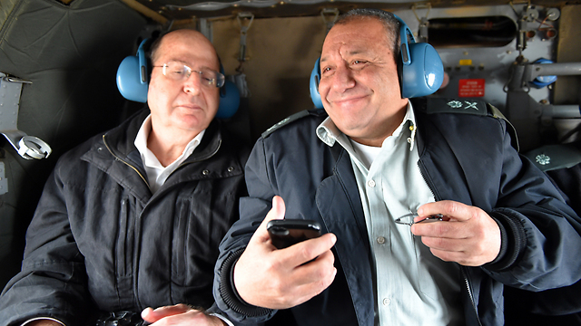 The moment Eisenkot received the news (Photo: Ariel Hermoni, Defense Ministry) (Photo: Ariel Hermoni, Defense Ministry)