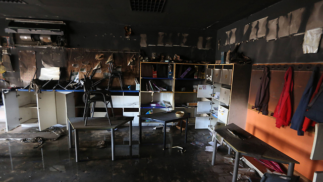 Damage to a classroom. (Photo: Gil Yohanan) (Photo: Gil Yohanan)