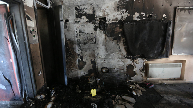 Damage in the J'lem bi-lingual school following the arson attack Photo: Gil Yohanan (Photo: Gil Yohanan)