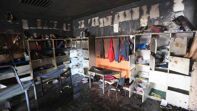 Jerusalem's bilingual Hand-in-Hand school following the arson attack (Photo: Gil Yohanan)