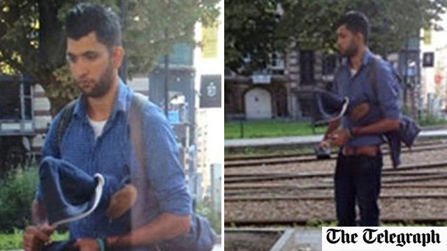 The photo of Abbassi that appeared in Belgian media outlets. (Photo: The Telegraph)