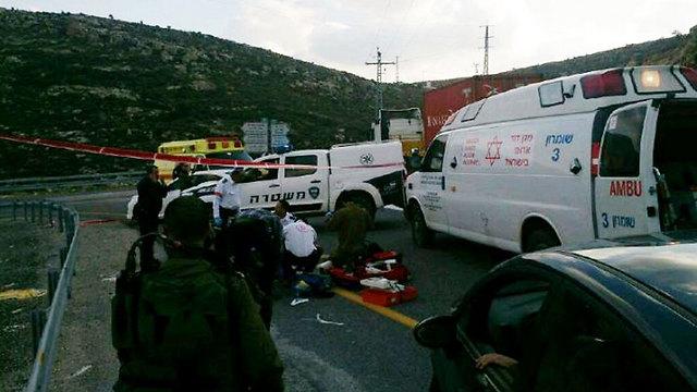 Scene of run-over incident (Photo: Israeli Police) (Photo: Israeli Police)
