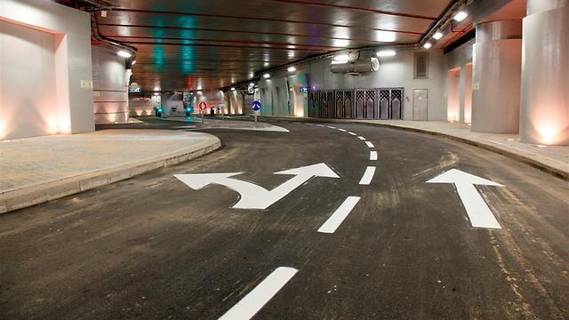 הרחוב התת-קרקעי. כ-1,500 מטר אורך (צילום: גיא יחיאלי) (צילום: גיא יחיאלי)
