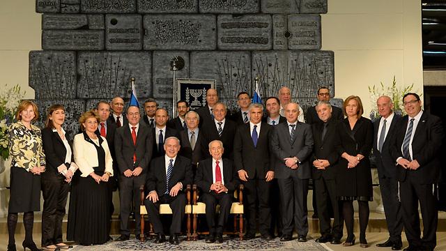 """הממשלה ה-33 ביום השבעתה, 18 במרס 2013. פחות משנתיים? (צילום: אבי אוחיון לע""""מ) (צילום: אבי אוחיון לע"""