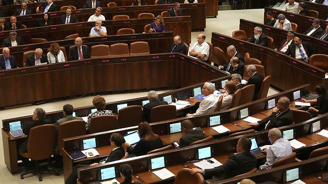 מליאת הכנסת. ההצבעה על הפיזור בשני (צילום: עמית שאבי) (צילום: עמית שאבי)