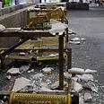 ההרס במרכז המסחרי צילום: שרון צור