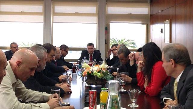 Faction leaders meet with Knesset speaker (Photo: Knesset Speaker's Office)