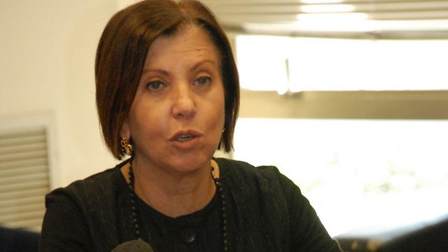 Meretz Chairwoman Zehava Galon (Photo: Barel Efraim)