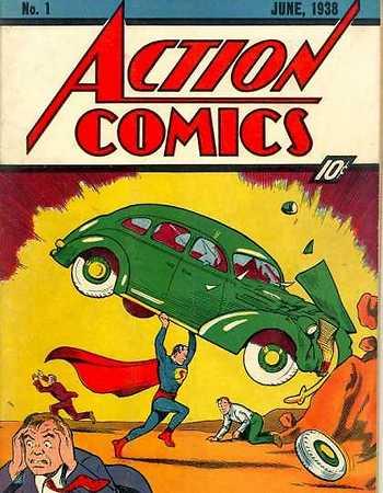 החוברת הראשונה של סופרמן שיצאה בשנת 1938 (מתוך ויקיפדיה) (מתוך ויקיפדיה)