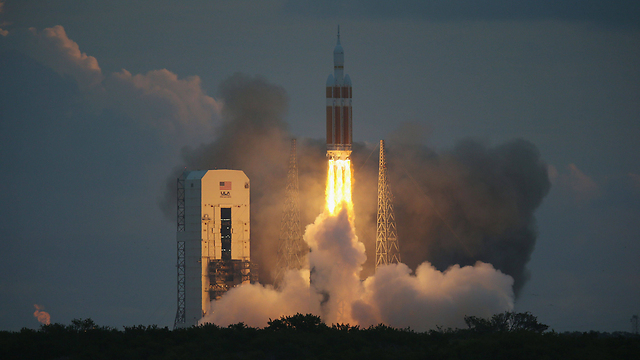 הניסוי ב-2014 של החללית אוריון (צילום: AFP) (צילום: AFP)