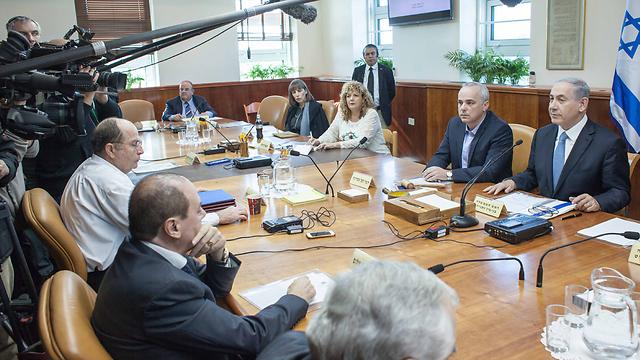 ישיבת הממשלה הבוקר (צילום: אמיל סלמן) (צילום: אמיל סלמן)