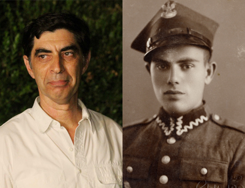 Dr. Simha Goldin and his father, a Polish soldier who was taken captive by the Soviet Army (Photos: Ido Erez, the Goldstein-Goren Diaspora Research Center at Tel Aviv University)