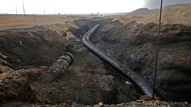 אזור האסון בערבה (צילום: EPA) (צילום: EPA)