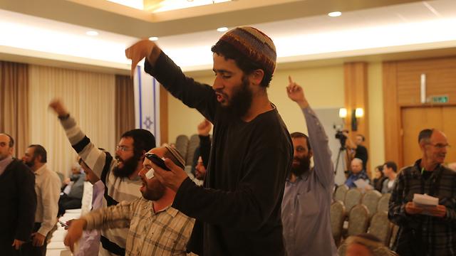 כינוס מרכז הליכוד באריאל, הערב (צילום: מוטי קמחי) (צילום: מוטי קמחי)