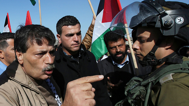 Abu Ein before scuffle with Israeli forces (Photo: AFP)