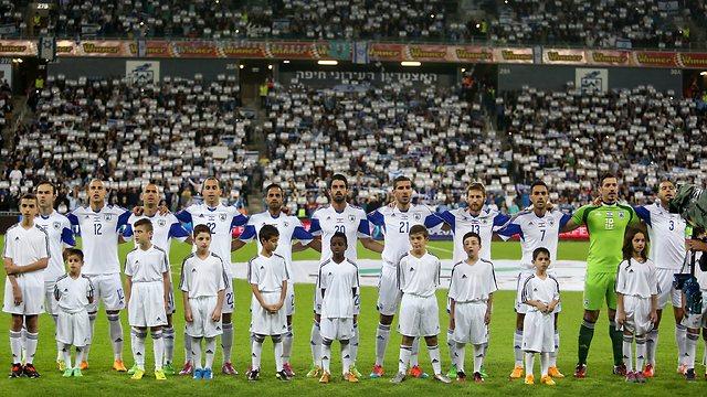 נבחת ישראל באיצטדיון החדש (צילום: אורן אהרוני) (צילום: אורן אהרוני)