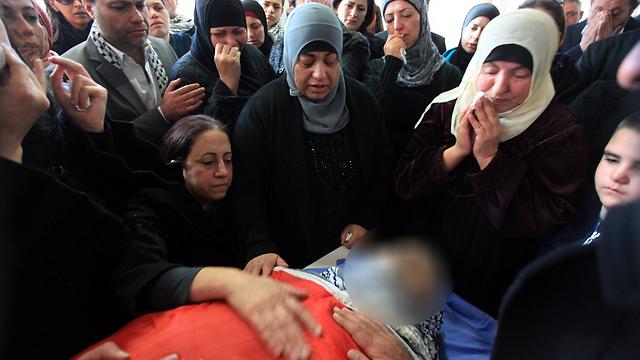 הלווייתו של זיאד אבו עין (צילום: AFP) (צילום: AFP)