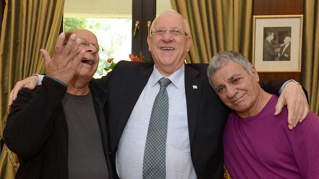 """גברי, הנשיא ריבלין ושייקה - """"הגששים הם מתנת האל לישראל"""" (צילום: מארק ניימן לע""""מ) (צילום: מארק ניימן לע"""
