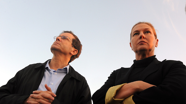 Herzog and Livni. (Photo: Haim Hornstein) (Photo: Haim Hornstein)
