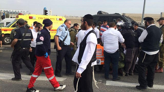 Acid attack (Photo: West Bank MDA paramedics)