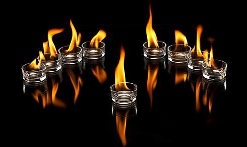 Ханукальные свечи. Фото: shutterstock