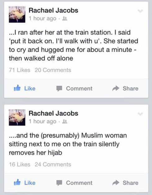 Jacobs' post that sparked the campaign.