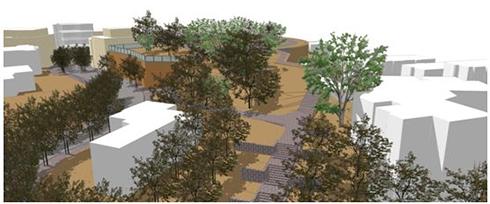 הדמיית מתחם הר הבנים בבני ברק (הדמיה: בר לוי אדריכלים) (הדמיה: בר לוי אדריכלים)