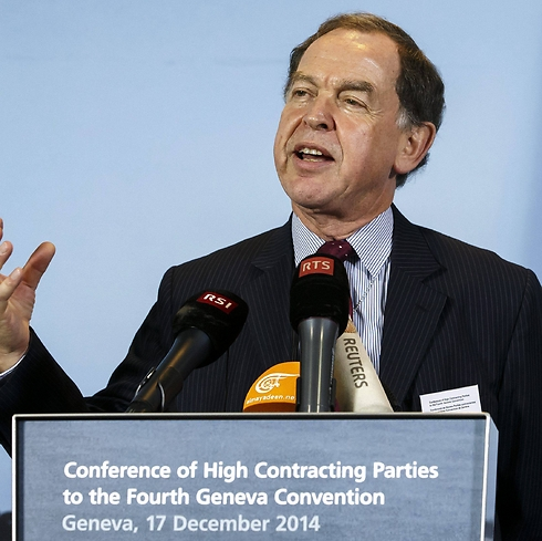Swiss Ambassador Paul Fivat led the conference in Geneva. (Photo: EPA) (Photo: EPA)