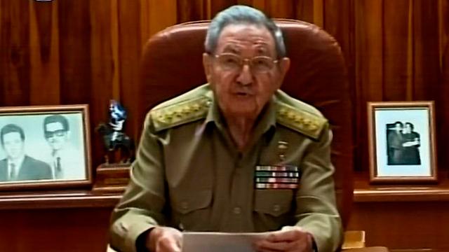הצהרתו של נשיא קובה, ראול קסטרו, במקביל להצהרת אובמה (צילום: רויטרס) (צילום: רויטרס)