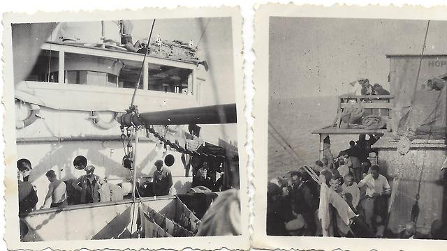 """ספינת """"האטלנטיק"""" בדרכה לישראל (צילום: באדיבות נפתלי רגב ) (צילום: באדיבות נפתלי רגב )"""