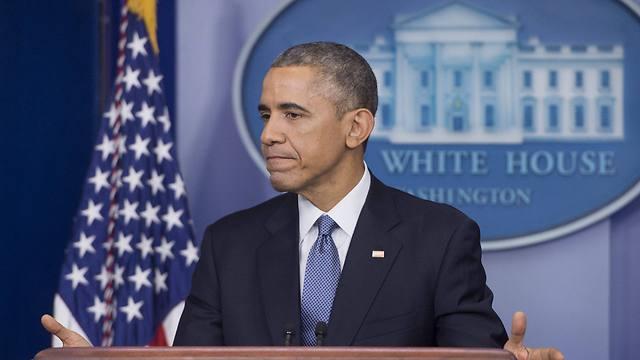 לא רוצה להרתיע את איראן מפני הפרת ההסכם? אובמה בבית הלבן (צילום: EPA) (צילום: EPA)