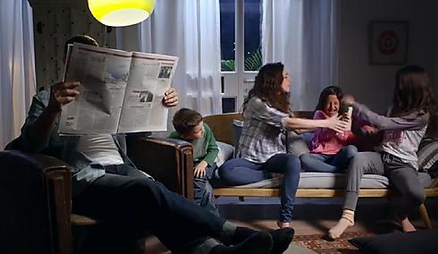 משפחות חילוניות רבות על השלט. מתוך הקמפיין  ()