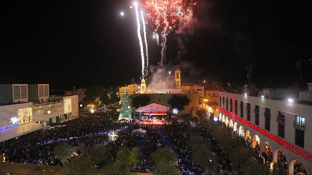 Manger Square in Bethlehem ahead of Christmas 2014. (Photo: EPA)