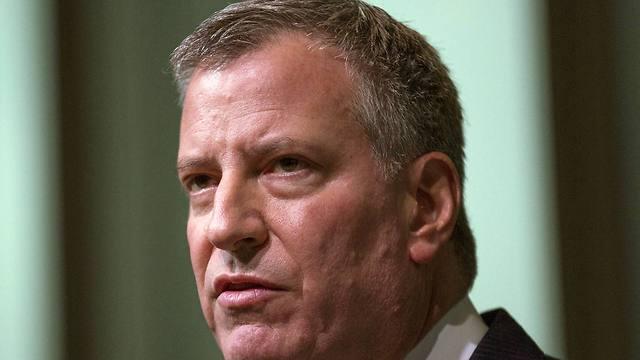 ראש עיריית ניו יורק ביל דה בלאסיו. (צילום: AP) (צילום: AP)