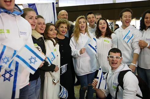 New immigrants arriving in Israel from Ukraine (Photo: Yaron Brener)