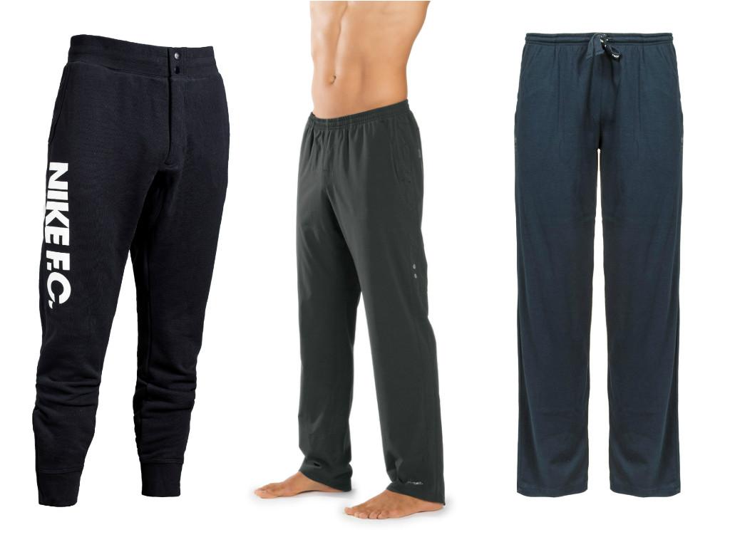 """משמאל: מכנסי פוטר של נייקי (329.90), PureProject Pant של ברוקס (315 שקל) ומכנס אימון של דיאדורה (159 שקל) (צילום: יח""""צ) (צילום: יח"""