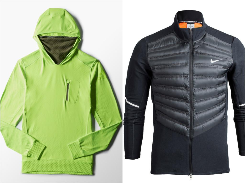 """משמאל:עליונית ריצה של אדידס (349.90 שקל) ומעיל מאוורר וקל של נייקי (929 שקל) (צילום: יח""""צ) (צילום: יח"""