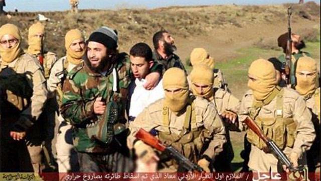 Islamic State takes the Jordanian pilot captive.
