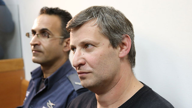 Stas Misezhnikov, at a remand hearing (Photo: Yaron Brener)