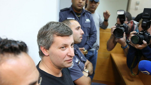 Stas Misezhnikov at his remand hearing. (Photo: Yaron Brener)