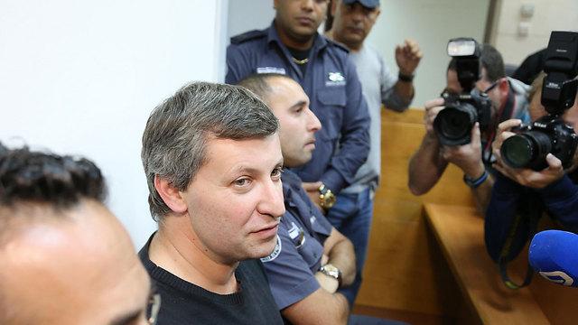 Stas Misezhnikov at his remand hearing in 2014 (Photo: Yaron Brener)