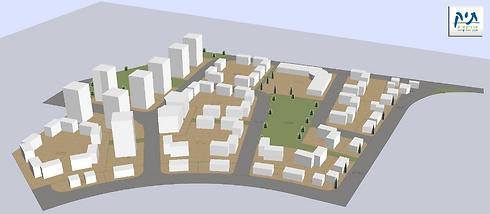 הדמיית השכונה החדשה, מבט מצפון (הדמיה: תיק פרויקטים) (הדמיה: תיק פרויקטים)