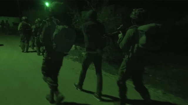 IDF force in Samaria (Photo: IDF Spokesperson's Unit)