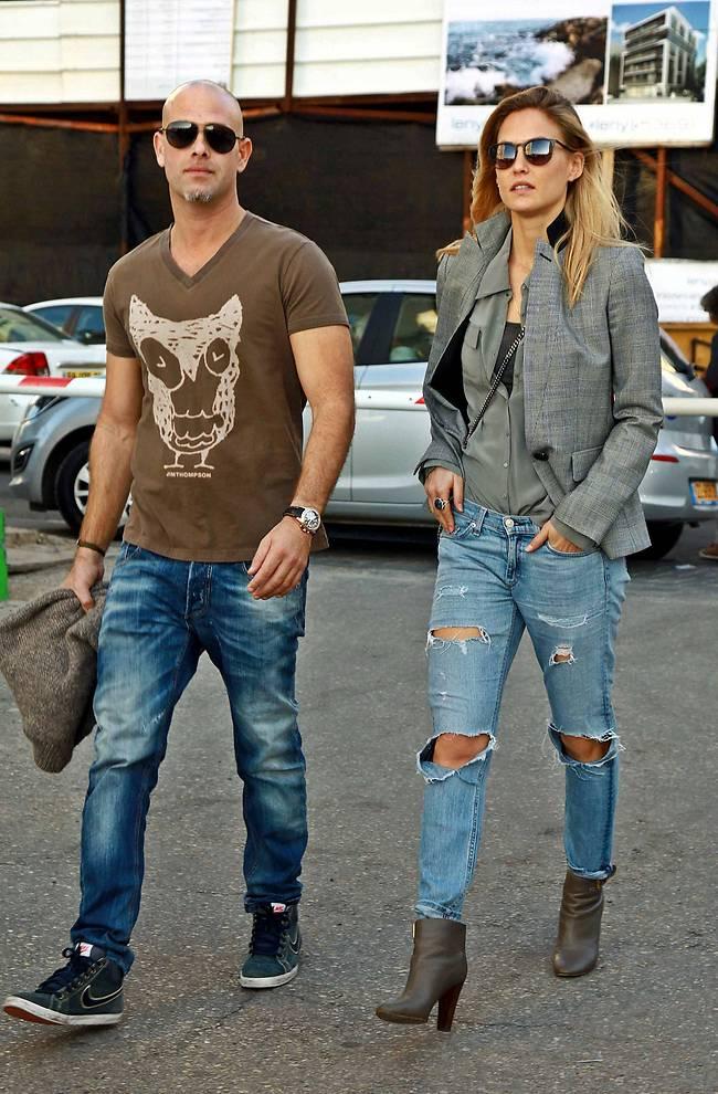 Refaeli and Ezra (Photo: Amir Meiri)