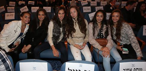 נבחרת ההתעמלות האמנותית בקהל (צילום: אורן אהרוני) (צילום: אורן אהרוני)