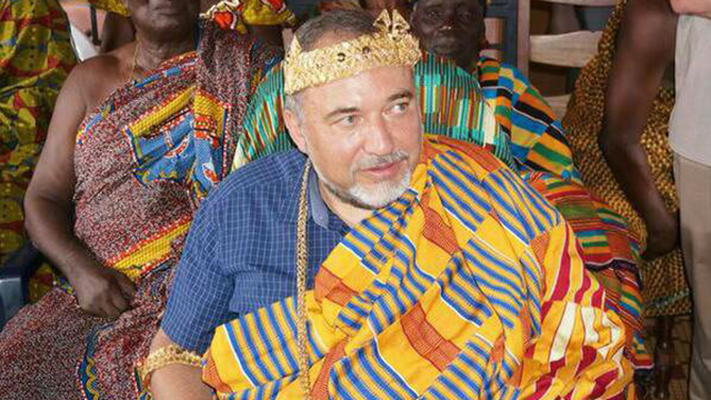 Foreign Minister Lieberman on a visit to the Ivory Coast.