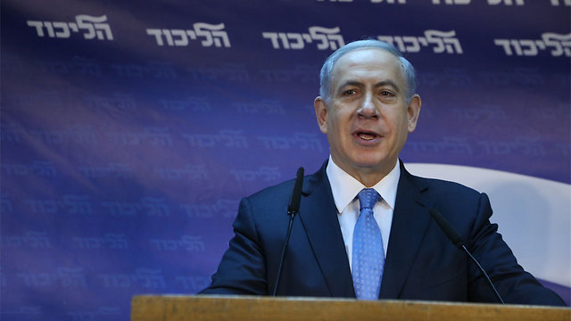 Netanyahu at Likud headquarters. Parties' primary elections are to blame for disrupting governability in the State of Israel (Photo: Motti Kimchi) (Photo: Motti Kimchi)